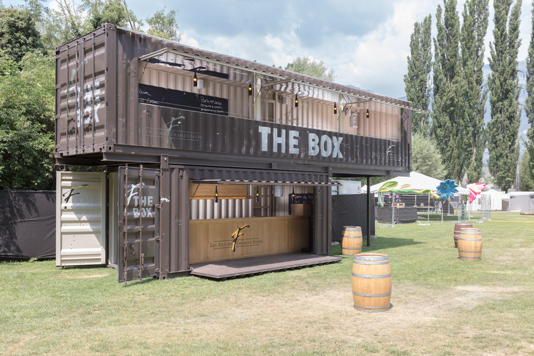 the box, mobile wine bar