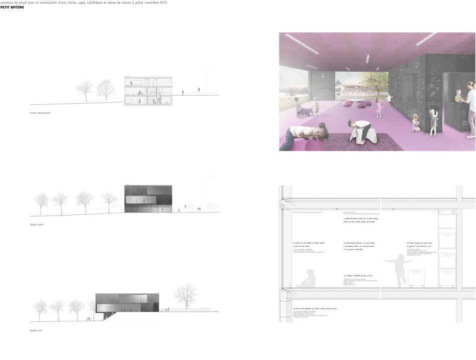 construction of a crèche, toy library and classrooms at grône, competition
