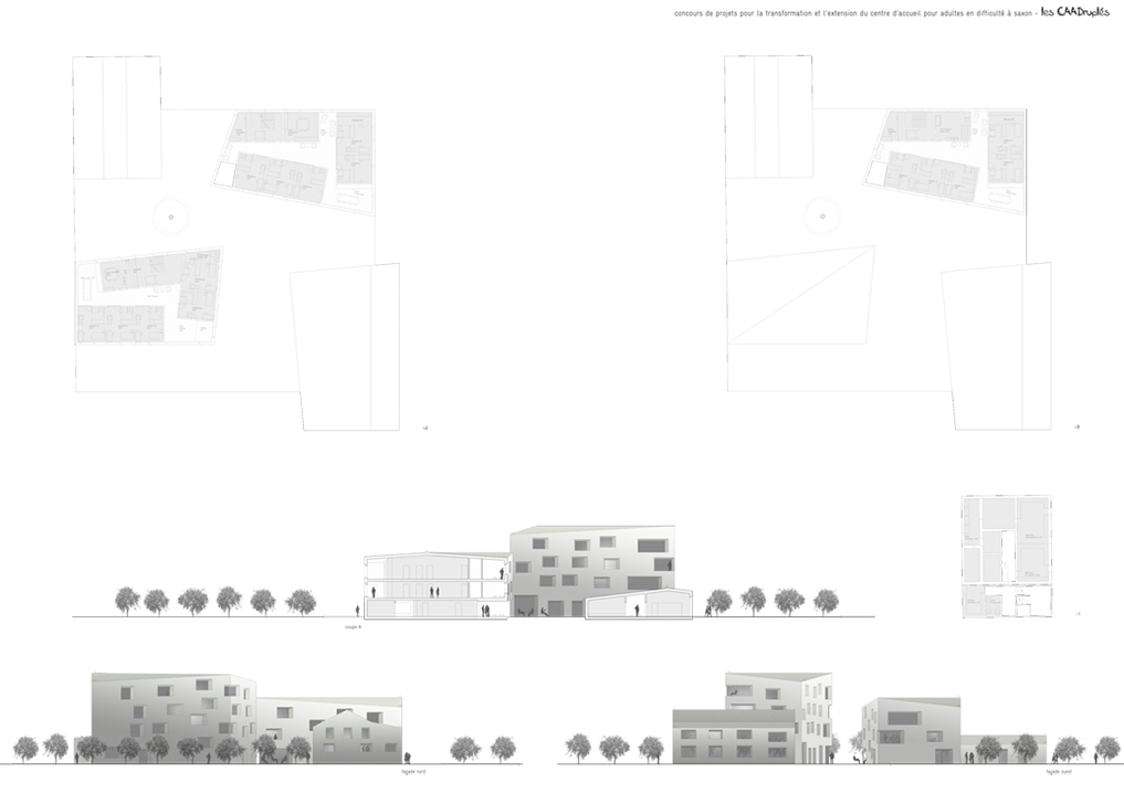residential psychiatric unit for adults, saxon, competition, 3rd place
