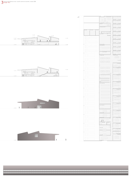 new fire station, monthey, competition entry