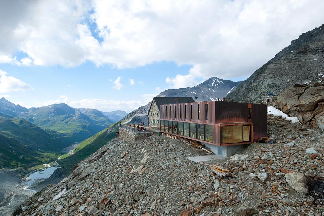 Direction des travaux cabane de moiry grimentz for Architecture suisse