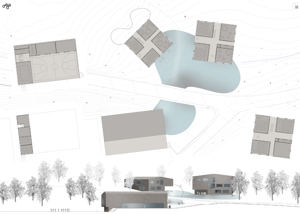 school and sport hall, chermignon, competition, 3rd price