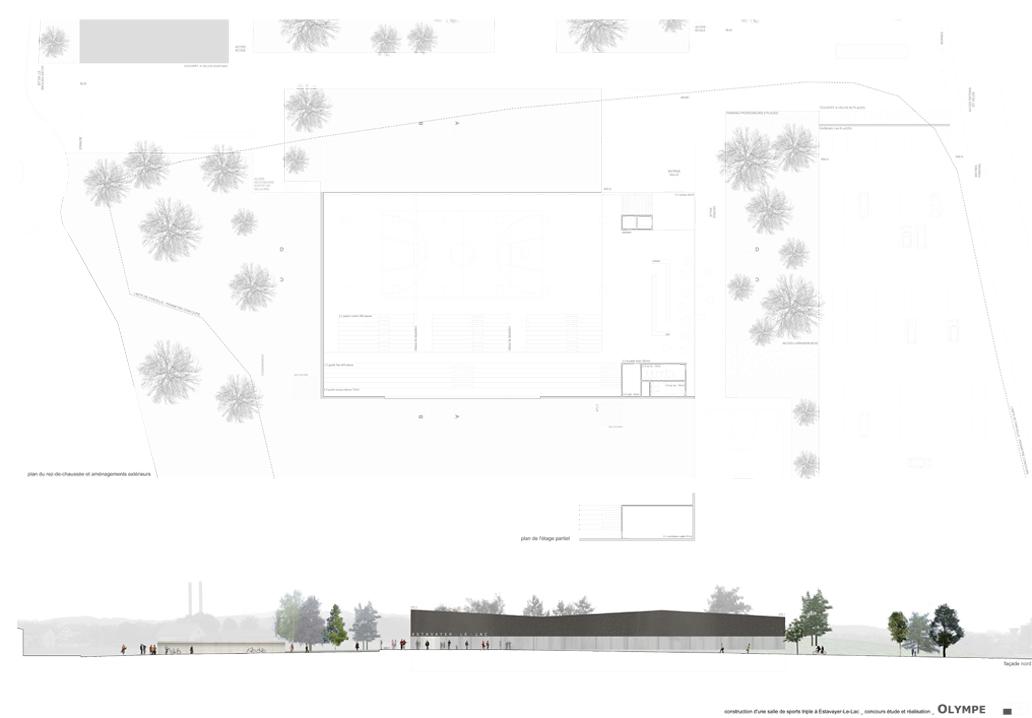 salle de sport triple estavayer le lac concours savioz fabrizzi architectes sion valais. Black Bedroom Furniture Sets. Home Design Ideas