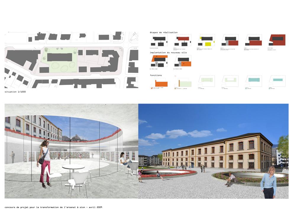 M diath que valais sion transformation concours 3 me for Architecture concours