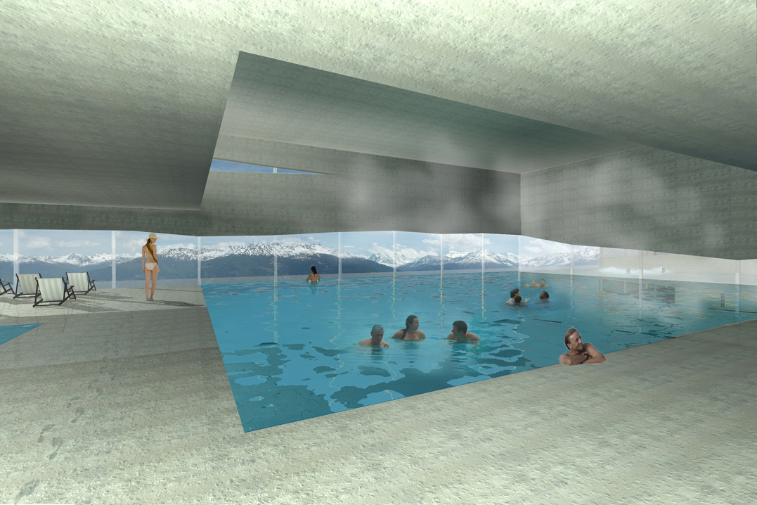 Piscine thermale anz re concours savioz fabrizzi for Piscine thermale