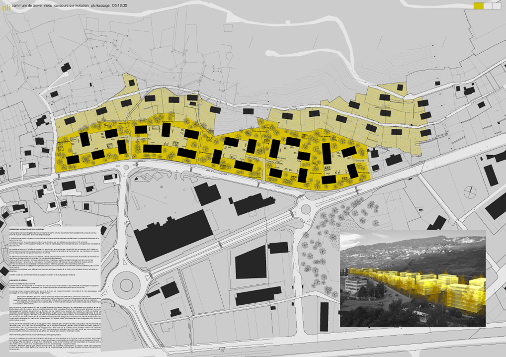plantassage district plan, sierre, competition, 3rd price