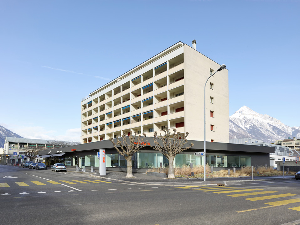 raiffeisen bank, martigny, conversion