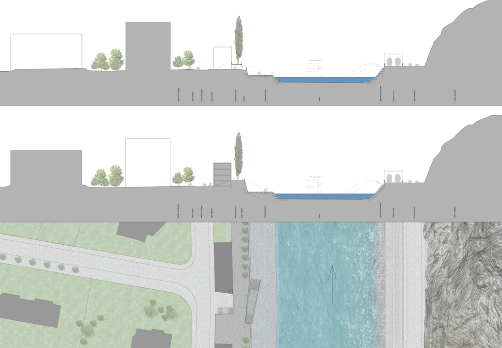 landscape planning of the rhône bank, sion, competition