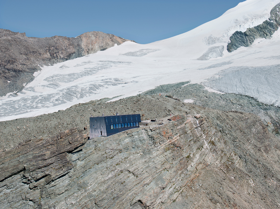 new mountain hut at tracuit, zinal