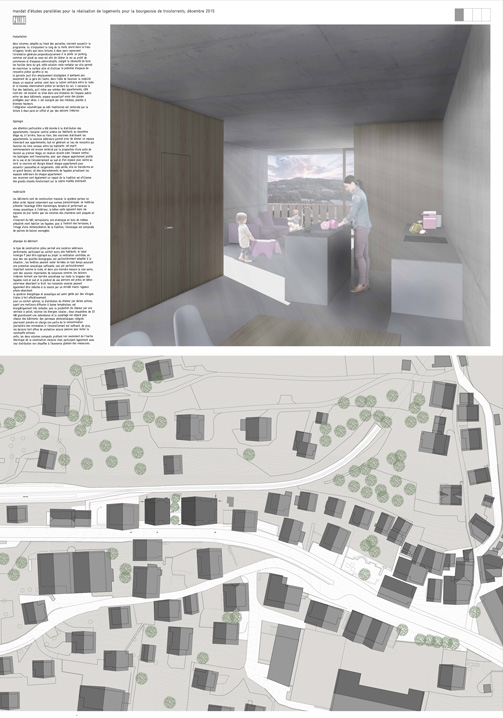 invited competition for the design of housing for the troistorrents municipal authority